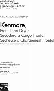 Kenmore 41781122310 User Manual Dryer Manuals And Guides