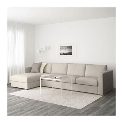chaise 3 en 1 vimle sectional 4 seat with chaise gunnared beige with chaise gunnared beige playroom
