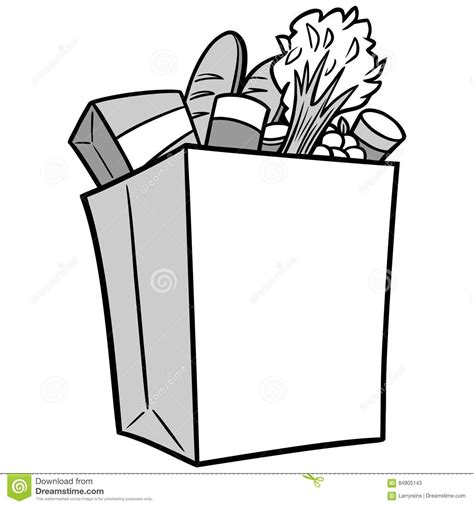 grocery clipart black and white grocery bag clipart black and white letters exle