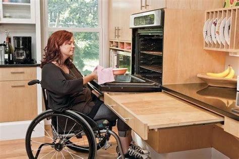 kitchen accessible wheelchair universal disabled appliances kitchens designs wheelchairs equipment surface stuff oven ada features wall accessibility cool accessories surfaces