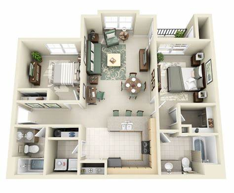Thoughtskoto: 50 3D FLOOR PLANS LAY OUT DESIGNS FOR 2