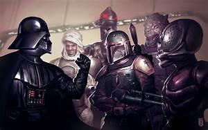 Star Wars Darth Vader Boba Fett bounty hunter wallpaper ...