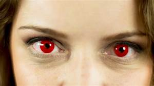Red Demon Eyes Contact Lenses - YouTube