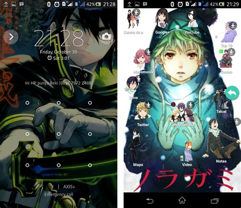 Launcher Anime Terbaik Untuk Smartphone Android Cikancah Kurotsuki Launcher Dengan Tema Anime Terbaik Di