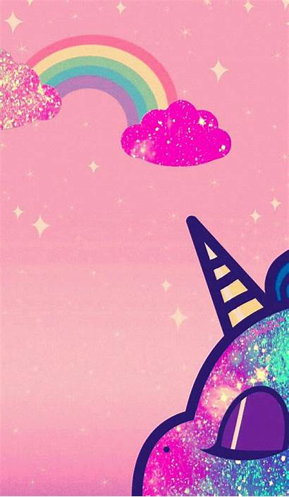 Unicorn Galaxy Iphone Pink Backgrounds Wallpapers Girly