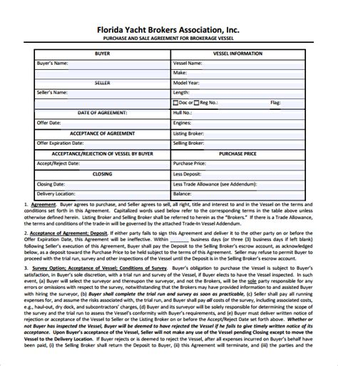 9+ Boat Purchase Agreement Templates  Sample Templates