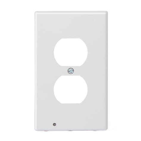 duplex wall outlet cover wall plate with led night lights