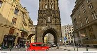 Historic Powder Tower Prague Time Lapse Tilt 11415 Stock ...