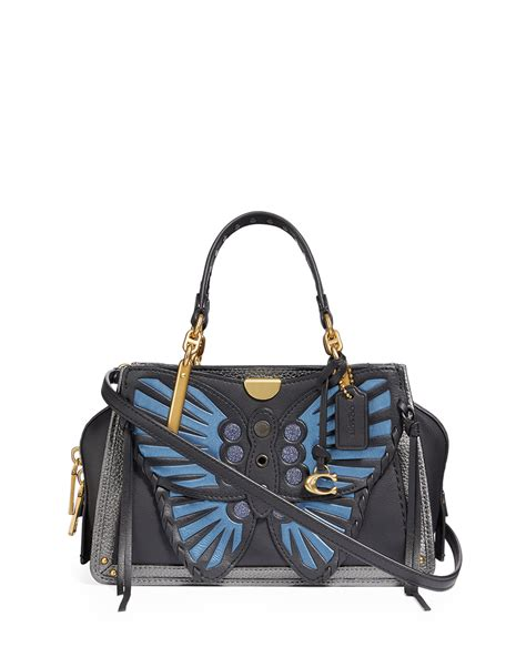 coach  dreamer  whipstitch butterfly satchel bag neiman marcus