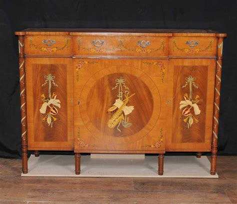 Painted Sideboard Buffet by Regency Sheraton Painted Sideboard Buffet Server Cabinet