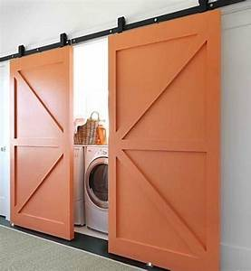 20 stylish and hidden laundry room designs home design With barn door for laundry closet