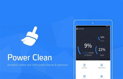 clean android power clean optimize cleaner android app review