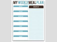 FREE Weekly Meal Planning Printable! SheSaved®