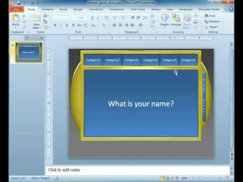 Powerpoint Template Game Show