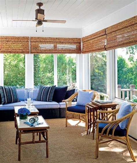 Create Blue White Sunroom by 25 Best Ideas About Sunroom Blinds On Woven