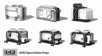 Halo Concept Unsc Space Props Station Fi