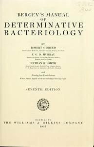 Bergey U0026 39 S Manual Of Determinative Bacteriology