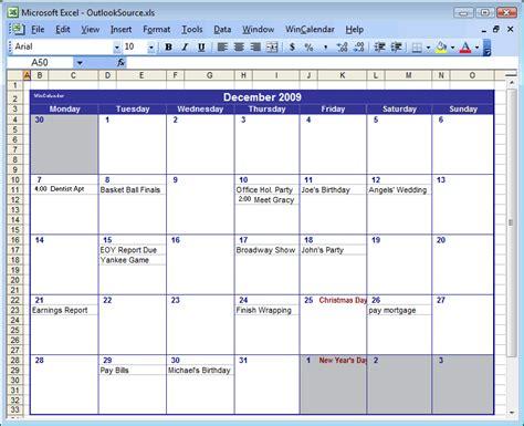 calendar template microsoft word