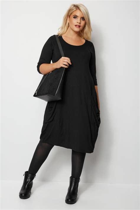 Kleid Mit Taschen Schwarz Grosse Grossen Bis