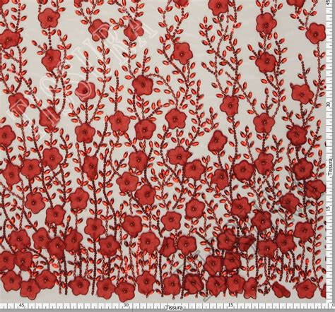 Floral Applique by Floral Applique Embroidered Tulle Fabric Exclusive