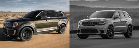 kia jeep 2020 2020 kia telluride vs 2019 jeep grand in