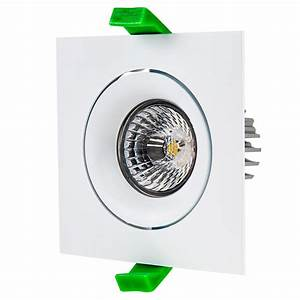 Led recessed light engine w square mm aimable trim