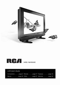 Download Free Pdf For Rca L26wd21 Tv Manual