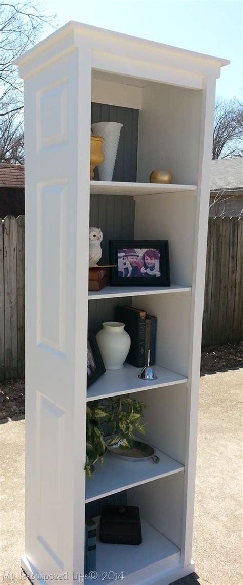 diy bookcase closet door bi fold door bookshelf my repurposed life