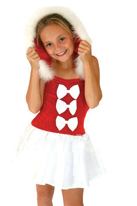 funny gift giving red  girl santa costume