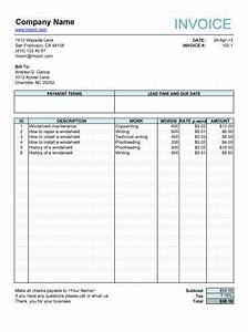 Free Job Card Template Service Invoice For Article Writers