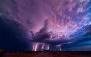 HD Lightning Storm Widescreen Wallpaper | Download Free ...