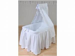 Ciel De Lit Berceau : berceau b b blanc ciel de lit habillage coton noeuds satin s blancs livr inclus ~ Teatrodelosmanantiales.com Idées de Décoration