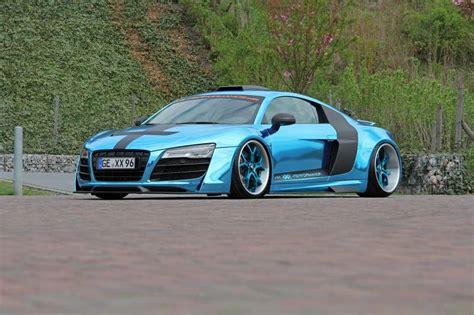Performance Audi R8 Chrome Blue Car Tuning