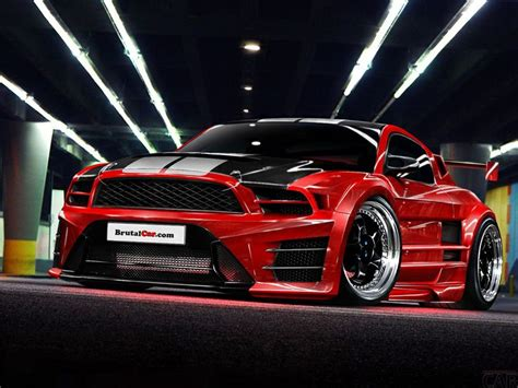 auto photo  tuning luxurious super fast cars red