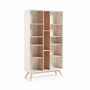 Etagere Blanche Et Bois : biblioth que design blanche et bois de fr ne josh by drawer ~ Teatrodelosmanantiales.com Idées de Décoration