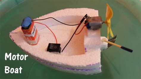 How To Make A Boat Model by How To Make An Electric Boat Using Thermocol And Dc Motor