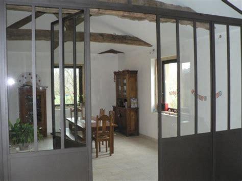 porte d 駘駑ent de cuisine verrière séparative thermolaquée avec porte entre salon et salle a manger