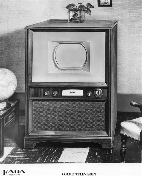 when did color tv began fada 15 inch color set