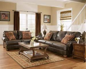 Living room paint ideas with brown leather furniture for Living room colour schemes brown sofa