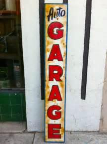 Vintage Auto Garage Sign