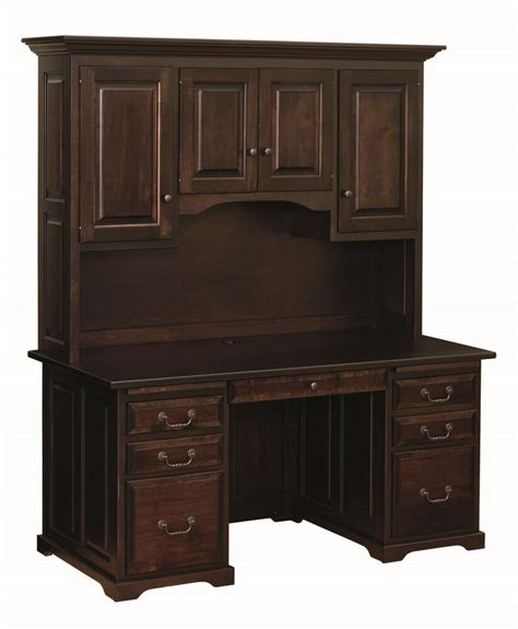 Office Hutch by 60 Quot Traditional Amish Executive Computer Desk Hutch Home