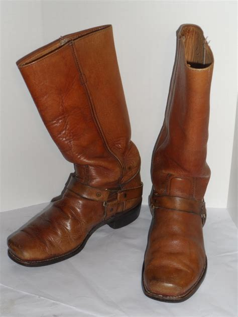classic leather motorcycle boots vintage men 39 s harness boots classic vintage apparel