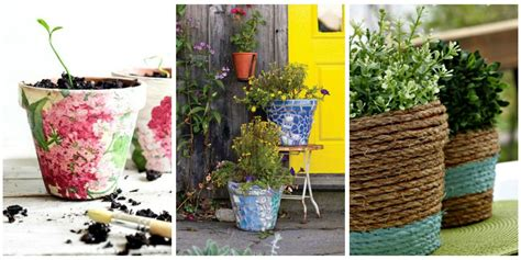 decorating flower pots 24 seriously pretty diy flower pot ideas how to decorate
