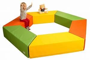 Schaumstoff Bausteine Kinderzimmer : b nfer kids softbausteine 1 trapezelement bausteine bunt ~ Watch28wear.com Haus und Dekorationen