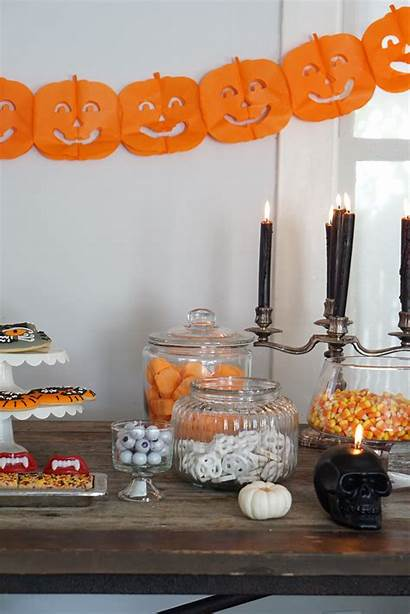 Halloween Candy Buffet Party Setup Becauseimaddicted