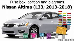 Fuse Box Location And Diagrams  Nissan Altima  L33  2013