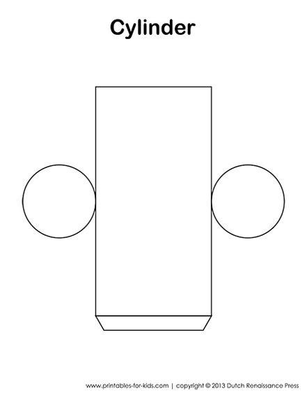 cylinder template shapes  shapes  kids shapes