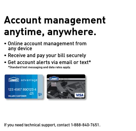 Maybe you would like to learn more about one of these? Manage Your Lowe's Credit Card Account