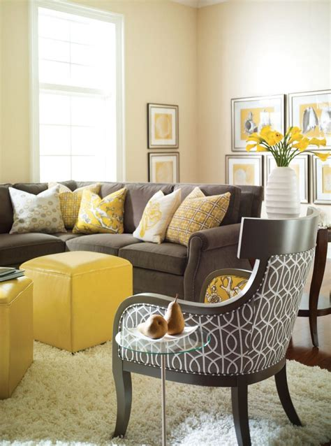 grey white  yellow living room ideas simple house
