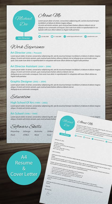 creative cover letter template phuket resume collection and creative design 21 stunning creative resume templates